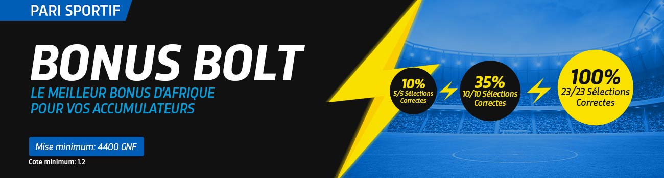 Le Bonus Bolt - Pari Foot